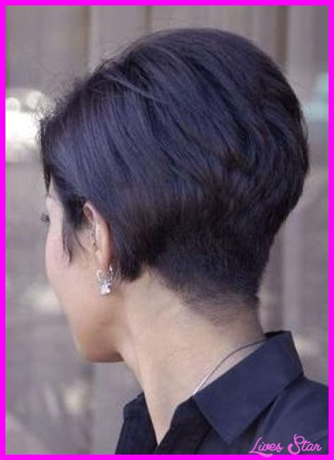 stacked bob haircut long points in front wedge haircut back view photos livesstar com