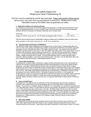 equine release form bill of sale form pennsylvania liability