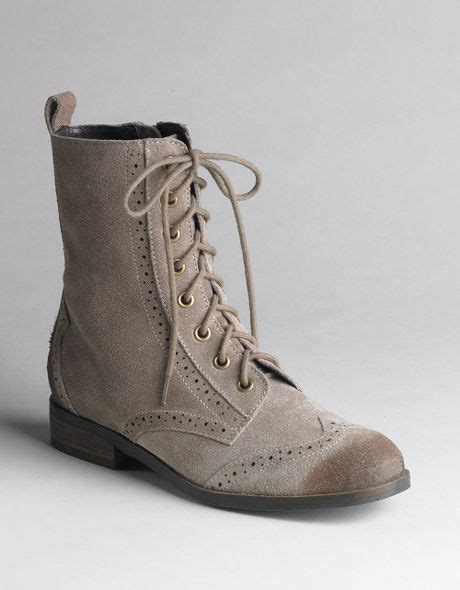dolce vita suede lace up dv by dolce vita zurich lace up boots in brown taupe