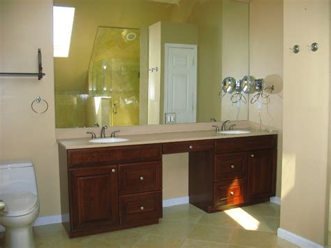 Masters Bathroom Vanity Cherry Sink Master Bathroom Vanity Mediterranean Bathroom New York By Gvc Designs