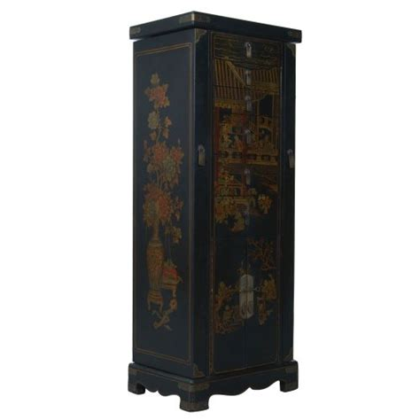 Handmade Jewelry Armoire - handmade design 51 quot antique style black leather