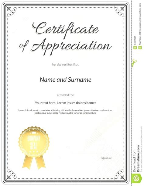 Template Certificate Of Recognition Template Word Template For Certificate Of Appreciation In Microsoft Word