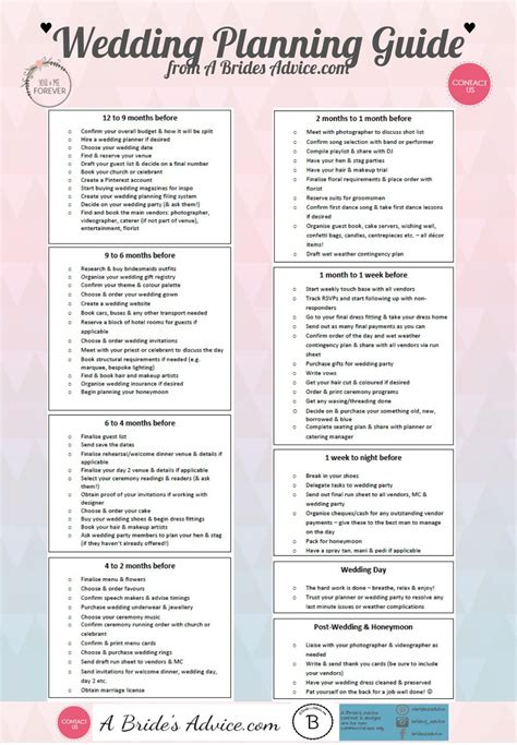 Printable Wedding Checklist With Timeline by Brilliant Wedding Planning Checklist Free Wedding Planning