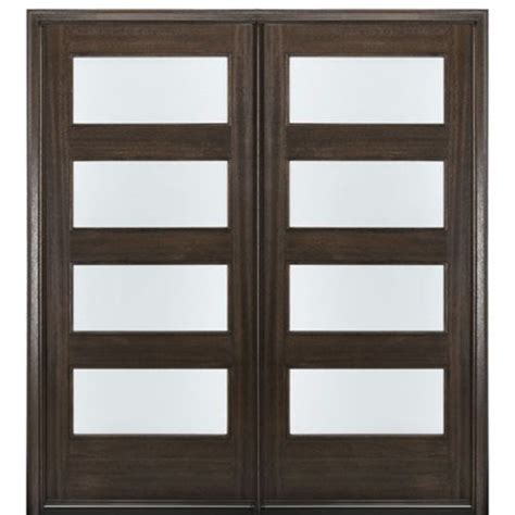 contemporary double door exterior mai doors c4 2 4 lite contemporary 80 quot tall mahogany