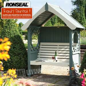 Garden Pergola With Roof by Ronseal Pre Painted Garden Arbour Seat From Westmount