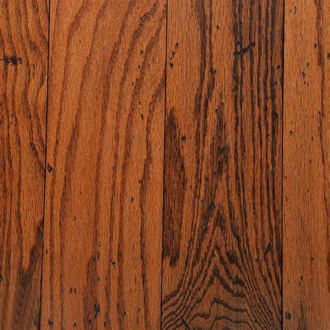 5 Oak Flooring by Bruce Distressed Oak Gunstock 3 8 In Thick X 5 In Wide