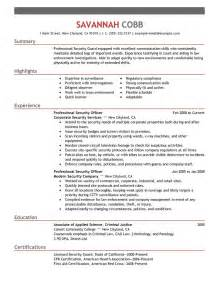 Security Guard Resume Examples Domainlives 89 Appealing Good Examples Of Resumes