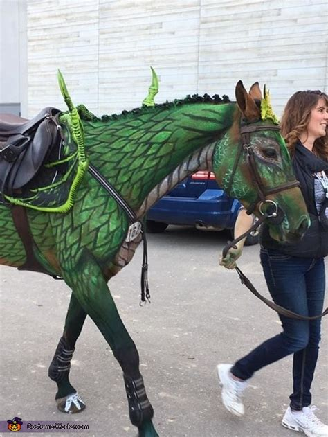 turn  horse   dragon costume photo