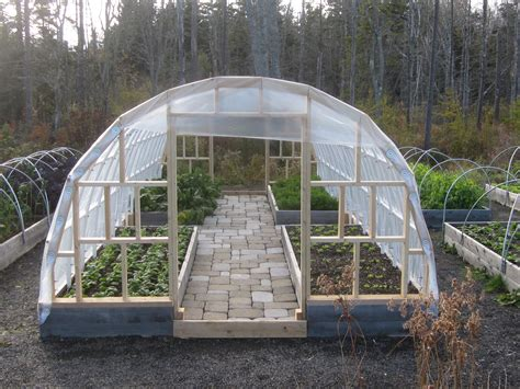 raised bed greenhouse hoop houses hedgerow