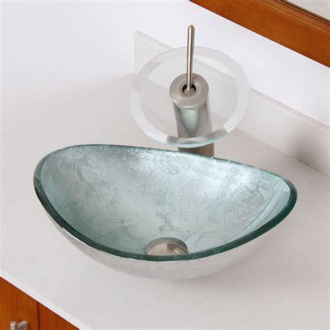 artistic bathroom sinks elite 1412 unique oval artistic silver tempered glass