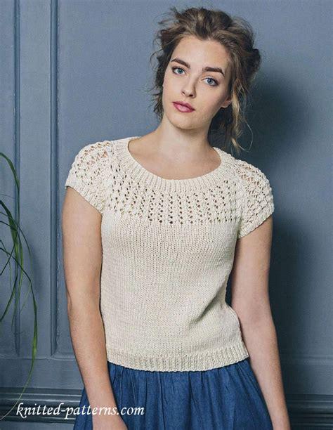top knitting patterns summer top free knitting pattern