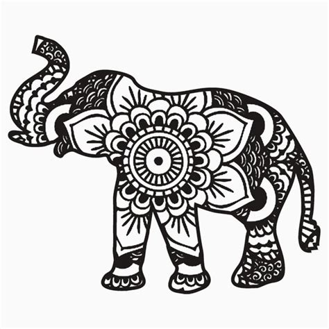 elephant mandala coloring pages for adults quot mandala elephant black quot s fitted scoop t shirts by