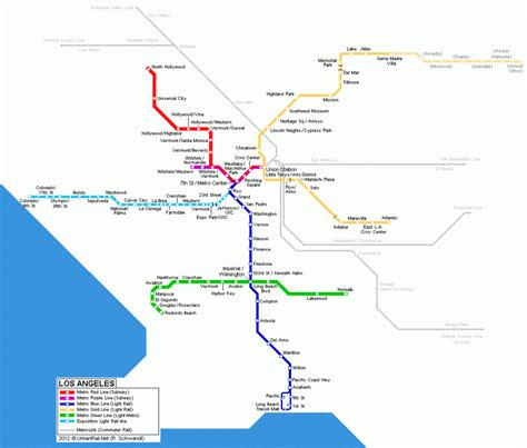 la subway map los angeles subway map travelsfinders
