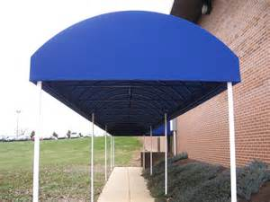 Retractable Porch Awning Blue Walkway Canopy Kreider S Canvas Service Inc