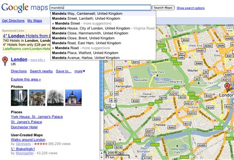 Address Map Search Maps Gets Search Suggestions