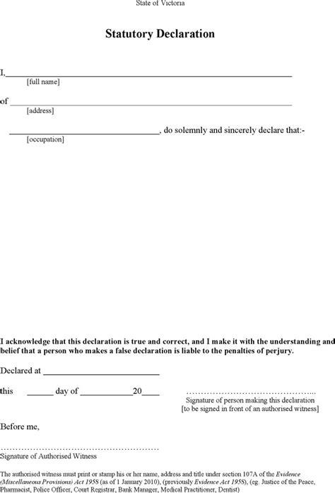 statutory declaration name change template statutory declaration form free premium