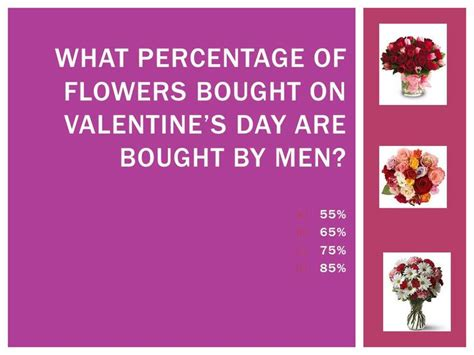 valentines day trivia s day trivia 65 of flower sales on s