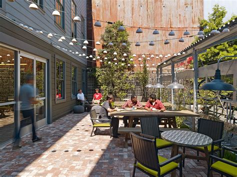 outdoor office space outdoor work cafe corporate spaces