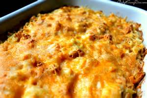 cheesy chicken casserole recipe