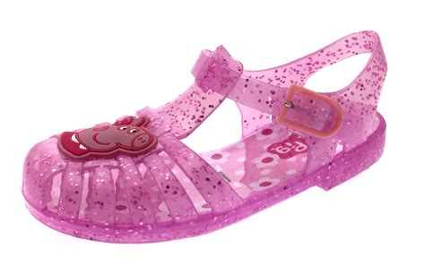 jellies shoes pink glitter peppa pig jelly sandals jellies