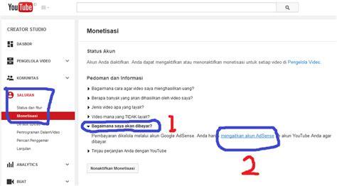 membuat google adsense youtube cara terbaru daftar google adsense dari youtube adsense