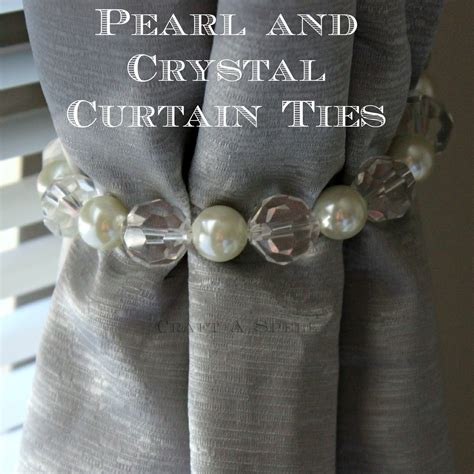 pearl curtain tie backs craft a spell diy pearl and crystal curtain ties