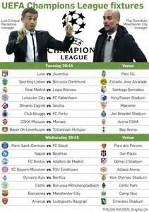 Uefa champions league fixtures graphics24