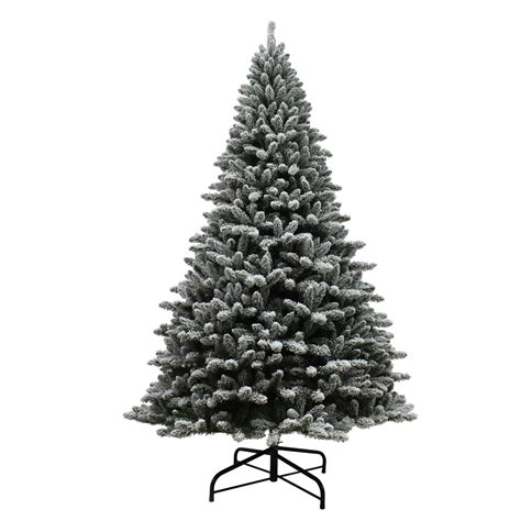 menards colorado flocked pine 9 unlit colorado flocked pine tree kmart