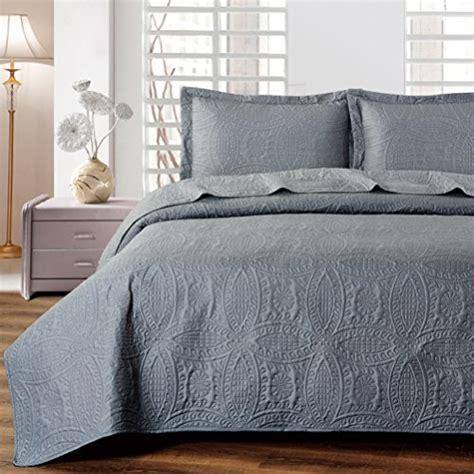 best quality comforter sets mellanni bedspread coverlet set charcoal best quality
