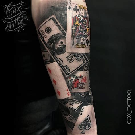 deck of cards tattoo designs with cards money best