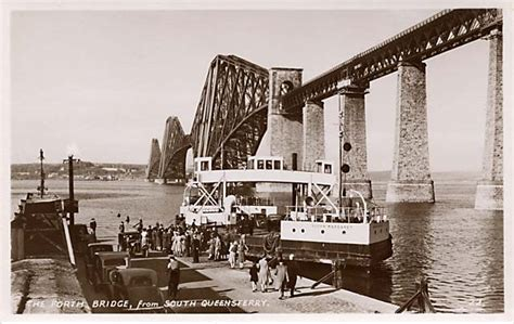 queensferry ferry boat the forth bridge and the ferry boat queen margaret on