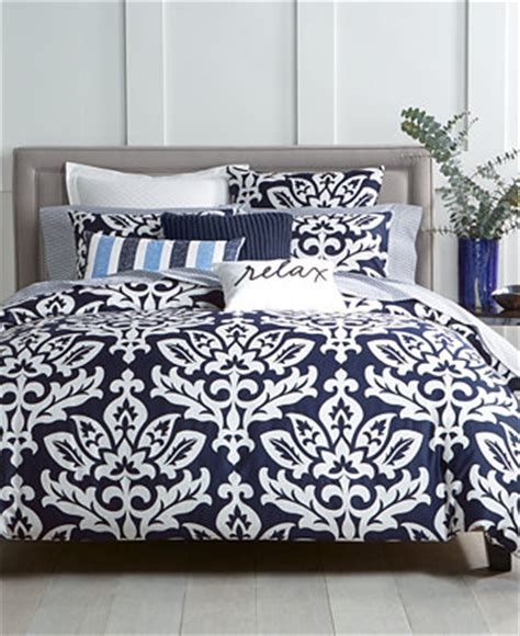 navy damask comforter charter club damask designs navy bedding collection only