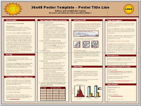 Posters4research Free Powerpoint Scientific Poster Templates Poster Presentation Template 36 X 48