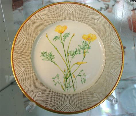 Gifts For House dinner plate with california golden poppy from white house