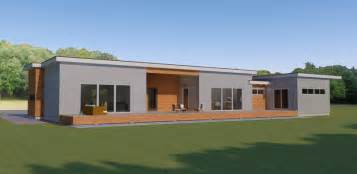Flat Roof Modern House One Story Flat Roof Modern Home Design Contemporary Open