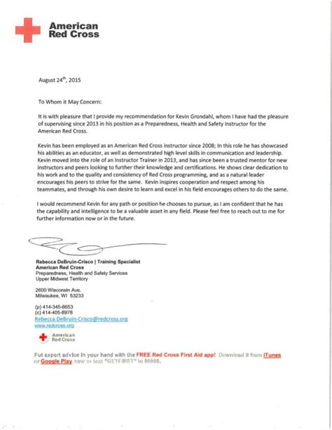 Cross Recommendation Letter Letter Of Recommendation Cross 2015