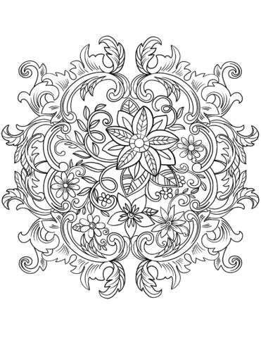 vintage pattern colouring book vintage baroque flowers coloring page free printable