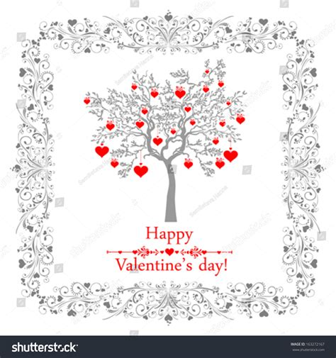 valentines day card design hearts vector stock vector happy valentines day card ornaments hearts stock vector