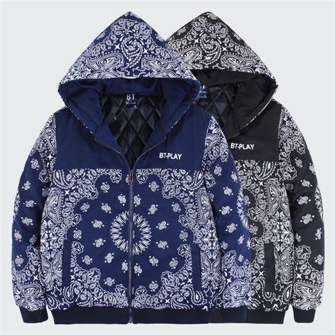 Jaket Sweater Russel Jumper Hoodie 2015 s new paisley bandana jacket with hoody zipper up