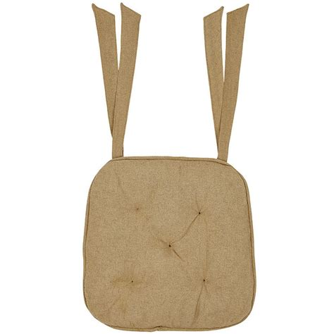 large 100 tufted cotton burlap chair pads with ties