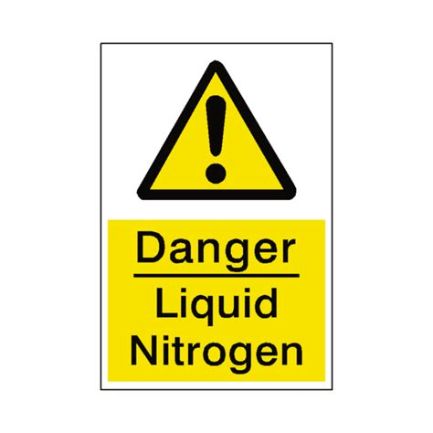 Liquid Nitrogen Danger Sign Safety Label Co Uk Safety Safety Stickers For Glass Doors