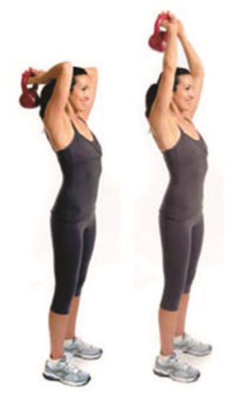 kettlebell swing overhead overhead triceps extension with kettlebell google search