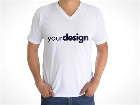 v neck shirt template psd mens v neck collar t shirt front back psd mockup psd