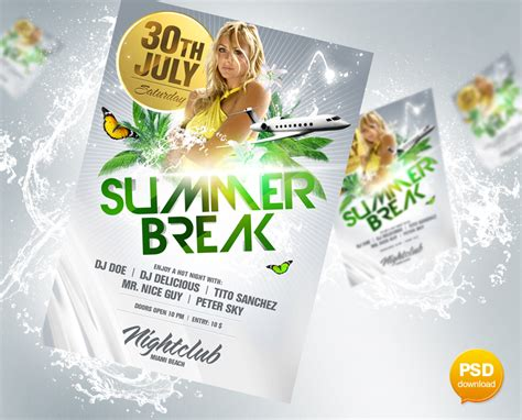 Flyer Design Vorlagen Psd summer flyer psd by flyer on deviantart