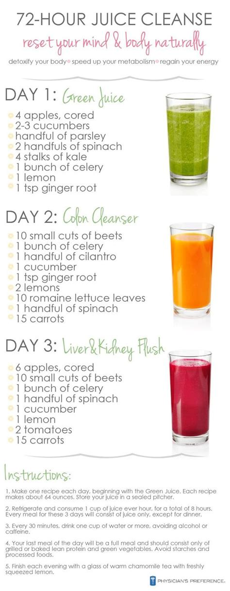 Juicing Recipe To Detox The by 3 Day Juice Cleanse Weight Loss Detox And Health On
