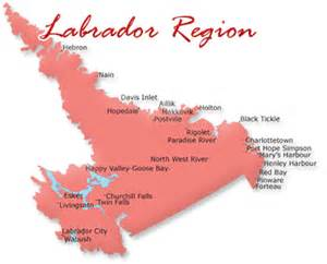 map of labrador canada newfoundland and labrador canada map breeds picture