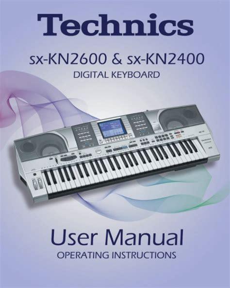 Keyboard Technics Sx Kn 2600 technics kn2600 kn2400 user manual technics kn2600