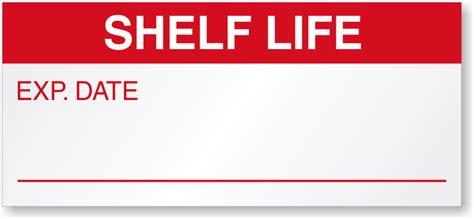Shelf Lives by Shelf Qc Labels Shelf Labels