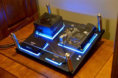 pc gaming desk case wall mount pcs are neat looking cool pc setups or