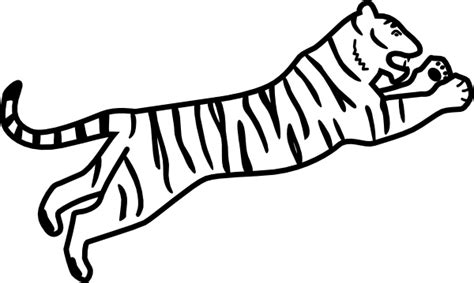 Tiger Outline Images by Outline Tiger Clip At Clker Vector Clip Royalty Free Domain